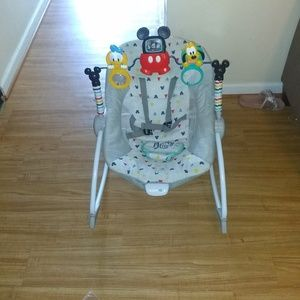Used, Mickey mouse baby chair and a baby play mat for sale